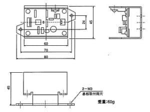 HM2412基板寸法図