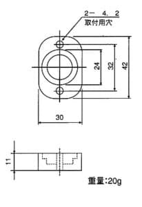 HM2412振動子部寸法