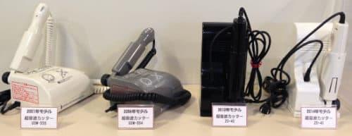 歴代のホビー用超音波カッター