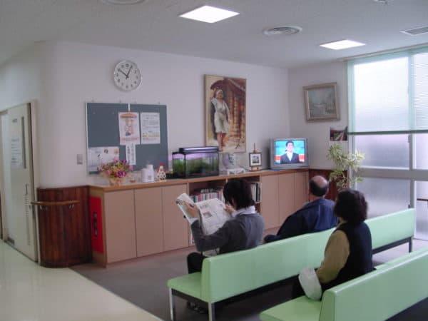病院待合室での利用