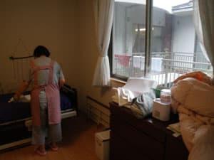 居室・病室での除菌水噴霧事例