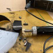 カーボンFRP中空パイプの切断事例:超音波カッターZO-80